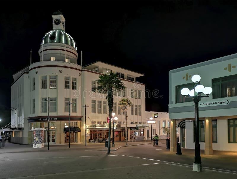 Napier New Zealand. North Island. Art Deco Buildings stock photo