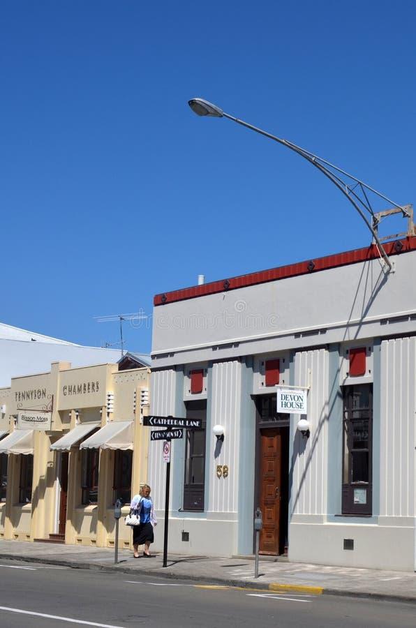 Napier - New Zealand. NAPIER, NZL - DEC 03 2014:Art deco Architecture in Napier.It's a popular tourist city with a unique 1930s Art Deco architecture, built royalty free stock image