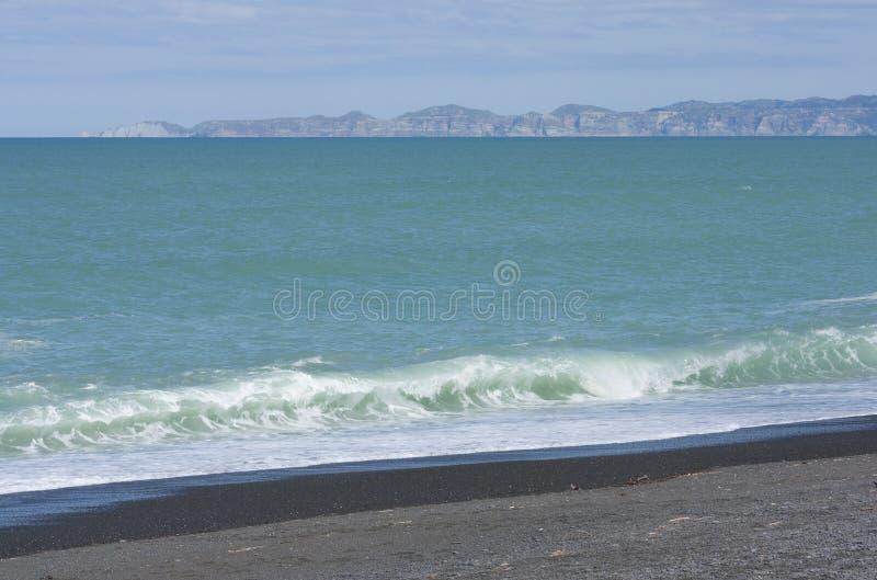Napier strand royaltyfria foton