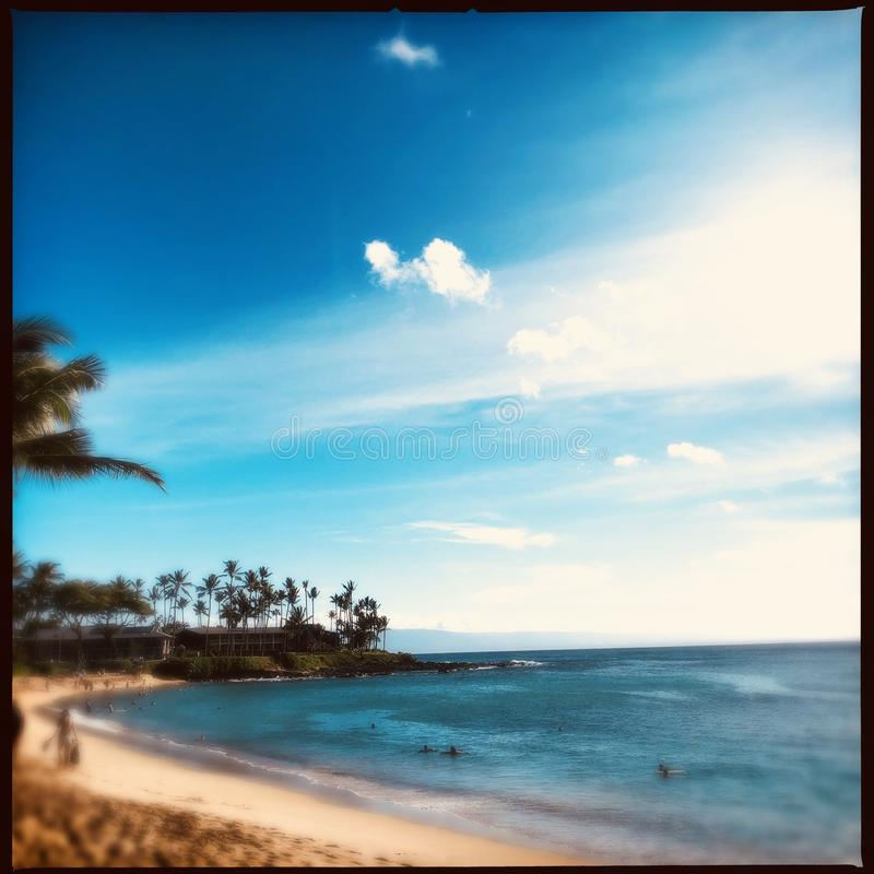 Napili plaża w Maui obraz stock