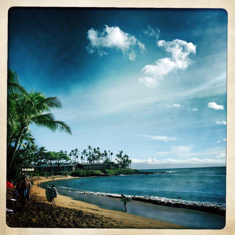 Napili plaża w Maui obrazy stock