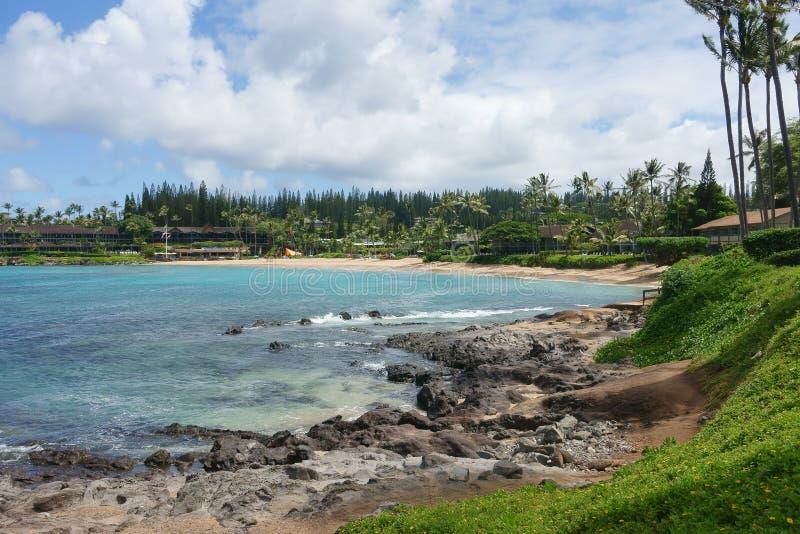 Napilistrand, Maui royalty-vrije stock afbeelding