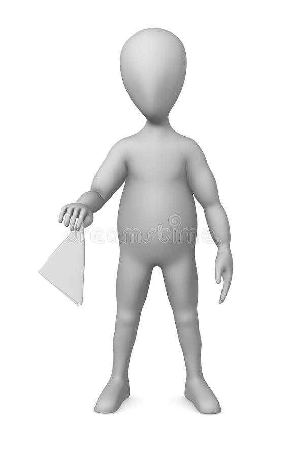 Download Napkin stock illustration. Illustration of figoure, humanoid - 14856036