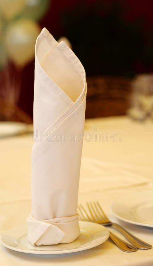 Napkin on Celebration Table royalty free stock photo