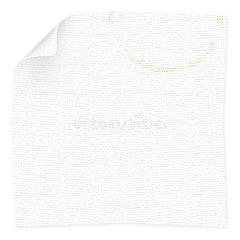 Napkin with coffee cup stain stock illustration