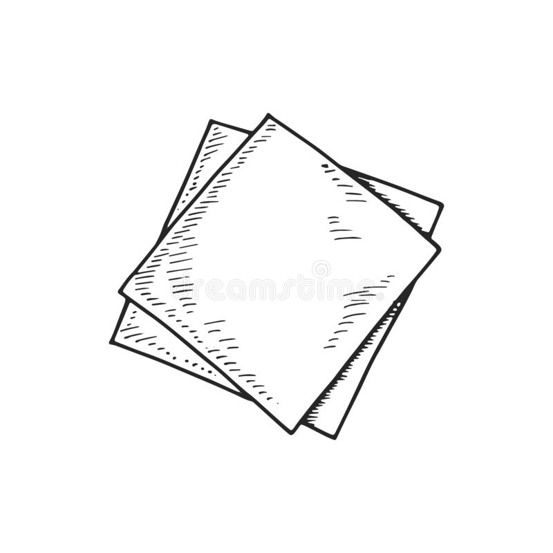 Free Napkin Dining Room Paper Sketch. Isolated Drawing Stock Photos - 129736773