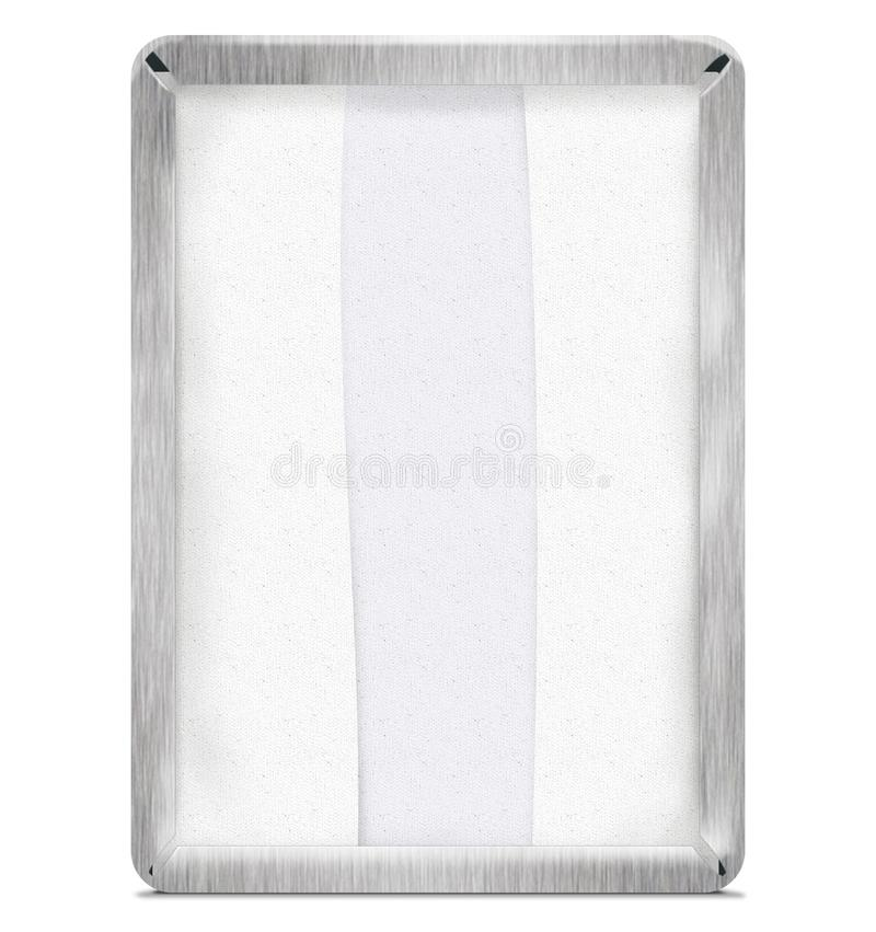 Napkin Dispenser steel With Path royalty free stock image