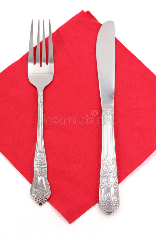 Download Napkin and fork stock photo. Image of diet, flatware, white - 1866466