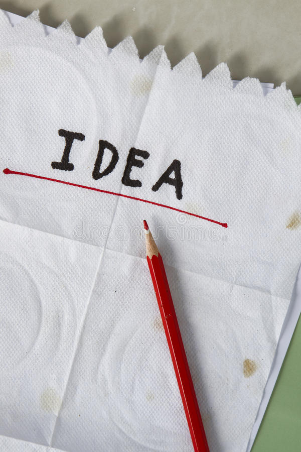 Download Napkin idea stock photo. Image of design, proposal, doodle - 27855108