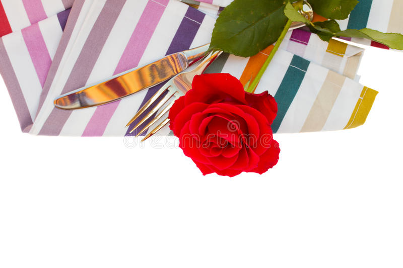 Download Napkin with knife and fork stock photo. Image of napkin - 28869996