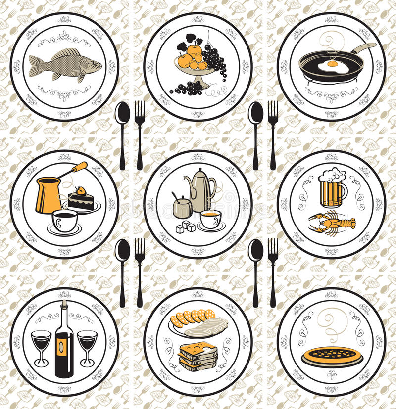 Napkin and nine meals