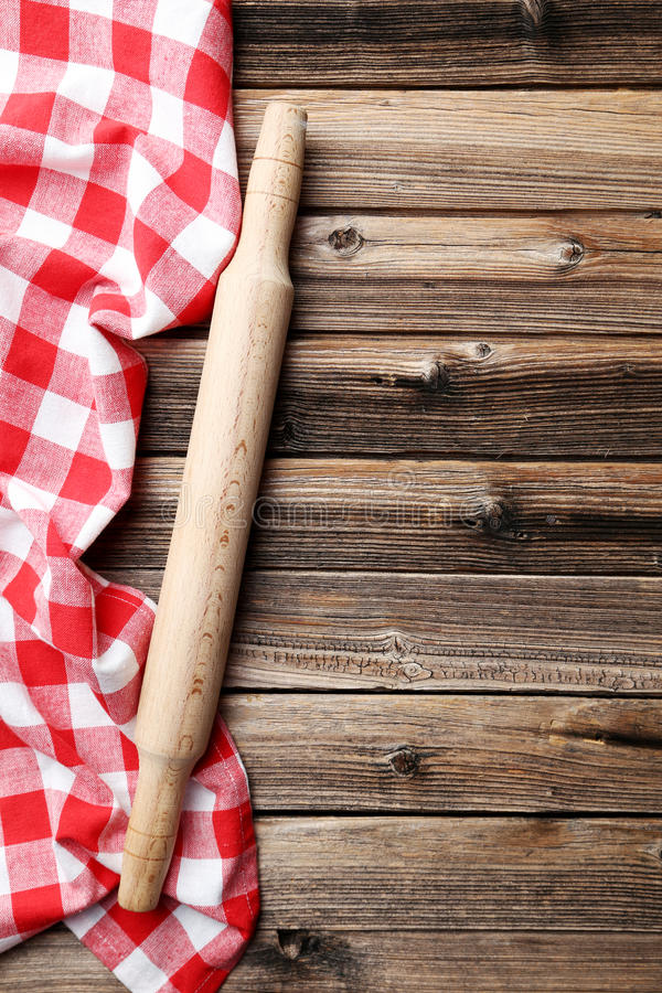 Napkin with plunger royalty free stock photo