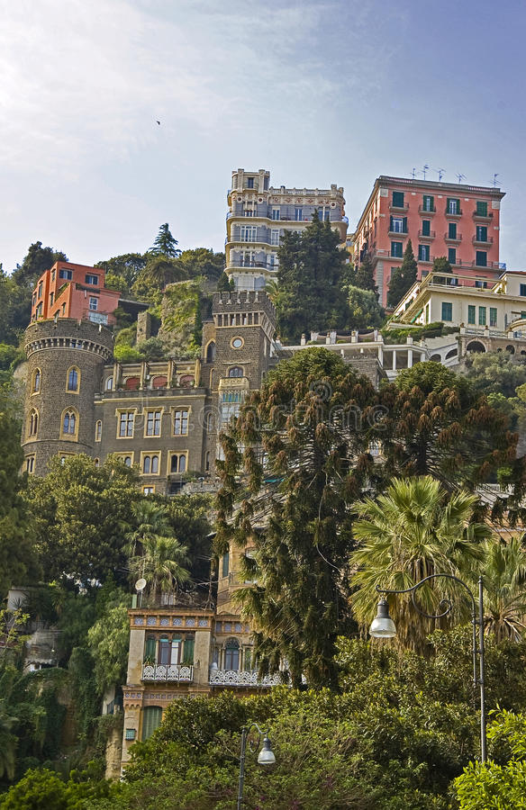 Naples. Urban view with the buildings at the top of the hill royalty free stock photo