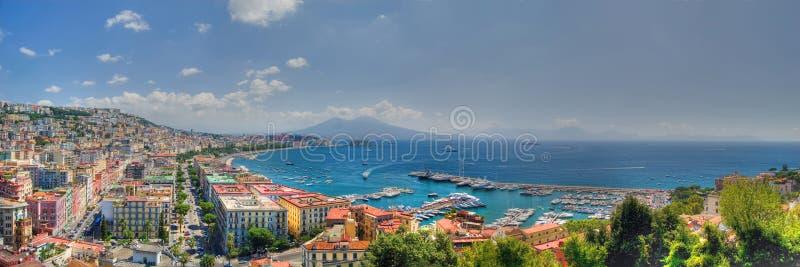 Naples, the bay stock photos