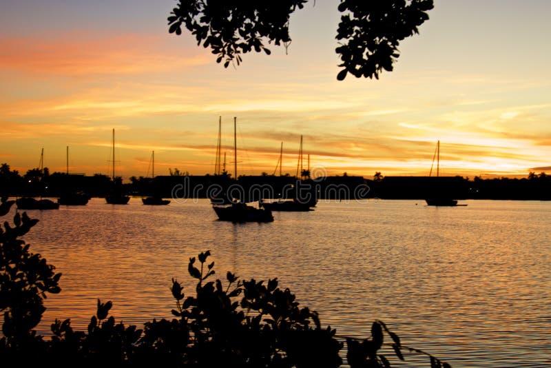 Naples Bay sunrise stock image
