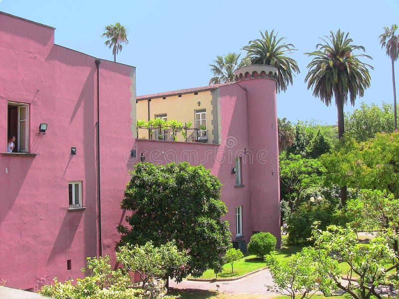 Naples botanisk trädgård - slotten royaltyfria bilder