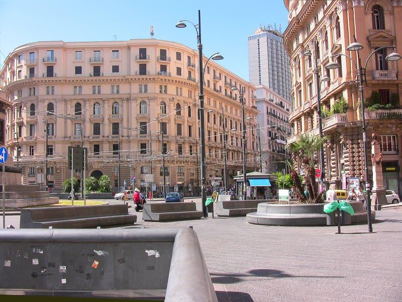 Naples Bovio square royalty free stock photo