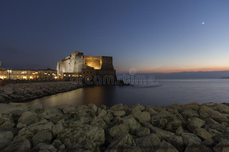 Download Naples, castel dell'ovo stock illustration. Image of greeting - 35867755