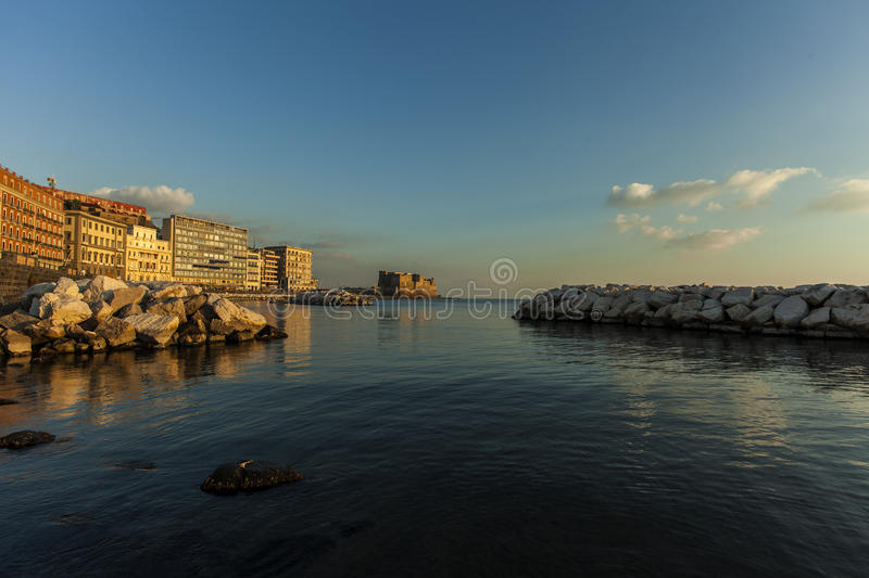 Download Naples, castel dell'ovo stock illustration. Illustration of abstract - 35870178