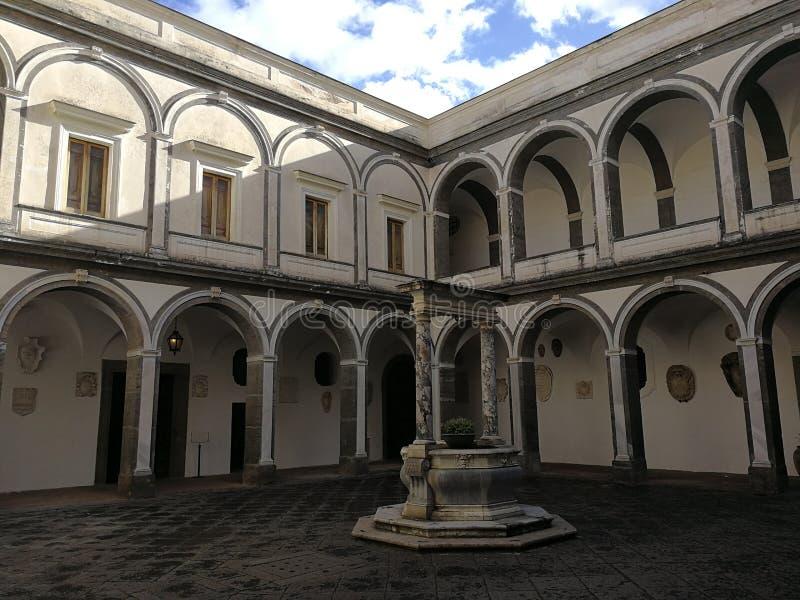 Naples - Cloister of the Procurators stock image