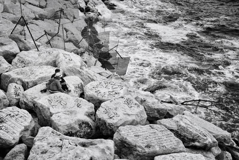 Naples Coastline,Italy royalty free stock images