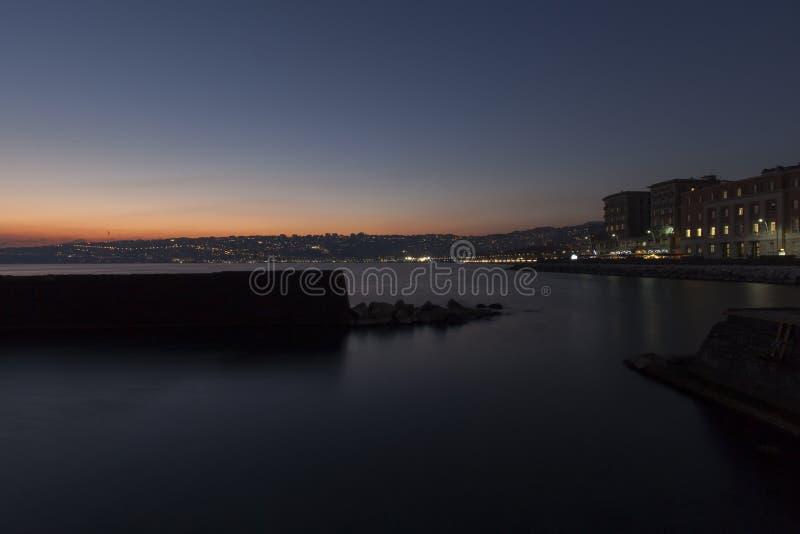 Naples, coucher du soleil images stock