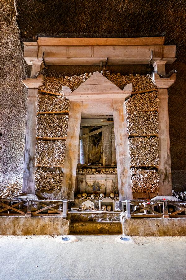 Naples - Fontanels kyrkogård, Cimitero delleFontanelle av Naples italy arkivbild