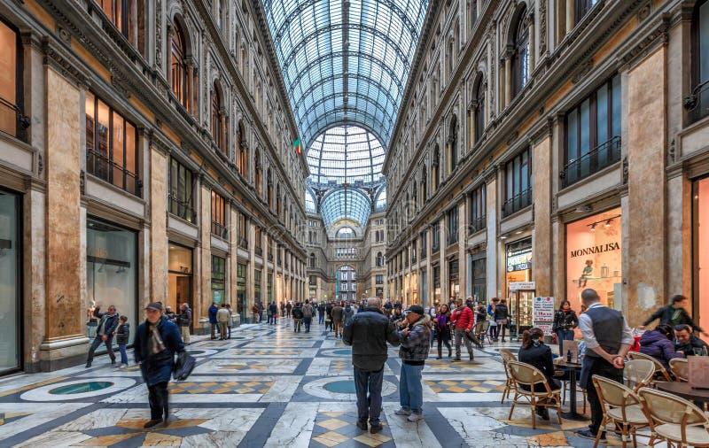 Naples Galleria Umberto I royalty free stock photo