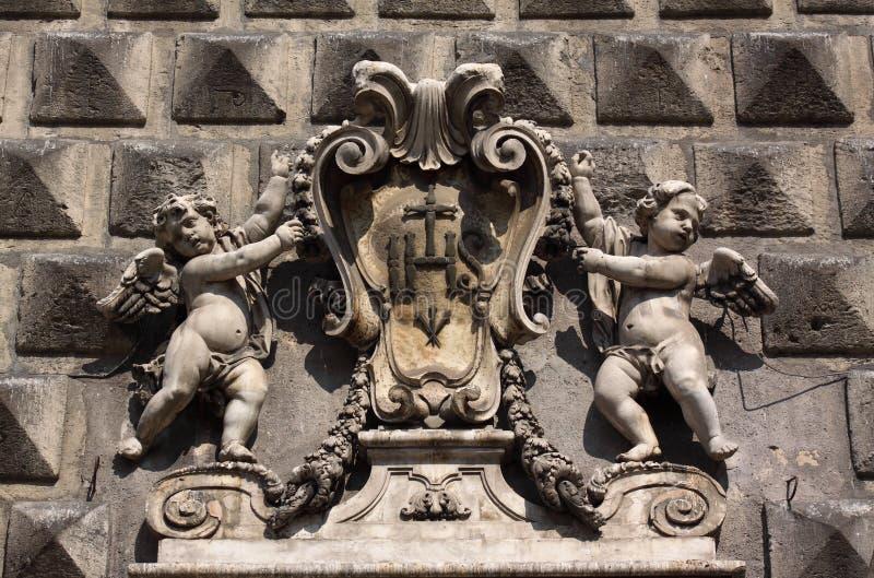 Naples Gesu Nuovo (New Jesus) stock photography