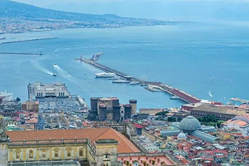 Busy harbor Italy royalty free stock photo