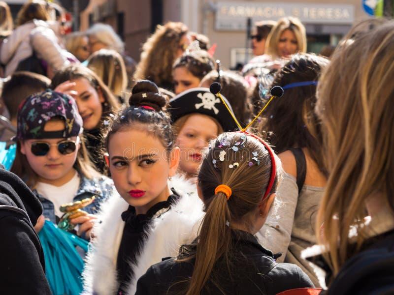 Naples, Italie - 1er mars 2019 Défilé de carnaval photographie stock