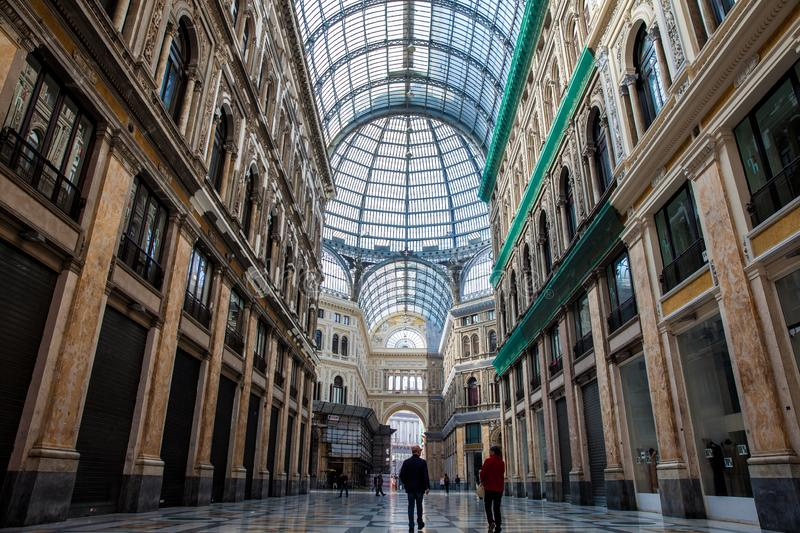 Galleria Umberto I a public shopping gallery in Naples stock image