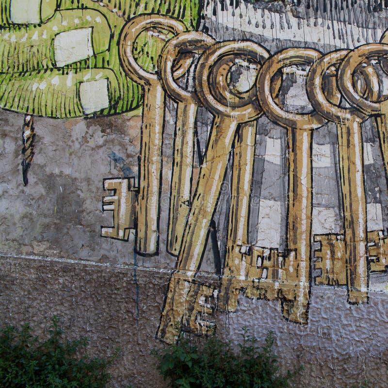 Naples juridiskt psykiatriskt sjukhus för murales arkivbild