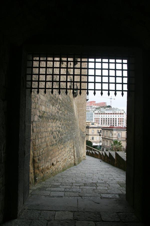 Naples kasztelu brama zdjęcia royalty free