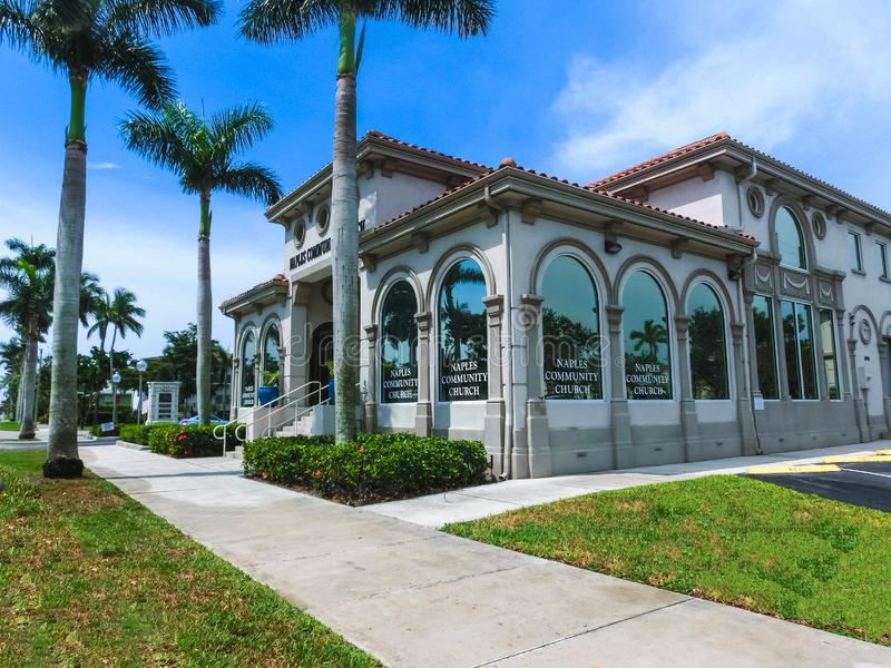 Naples, la Floride, Etats-Unis - 29 juin 2018 : L'église communautaire à Naples, la Floride photos stock