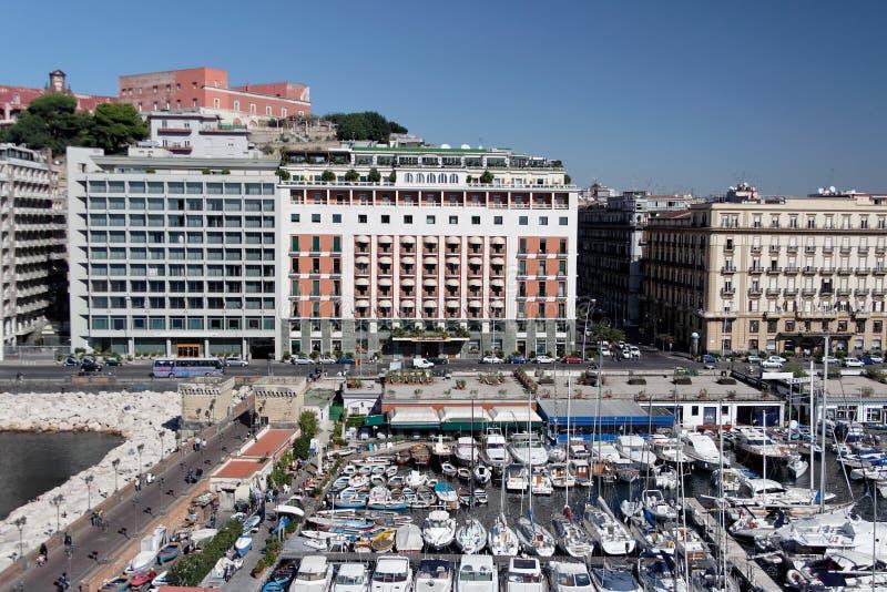 Naples marina stock image