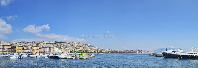 Naples Bay touristic harbor royalty free stock photography