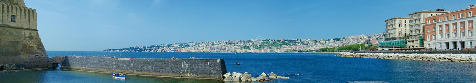 Naples panoramic view from the castle royalty free stock photo
