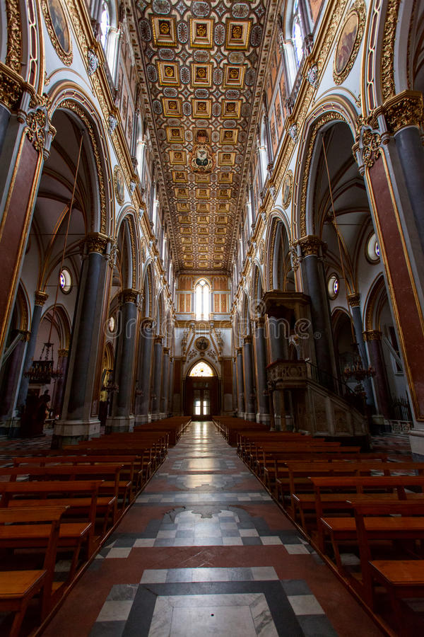 Naples, San Domenico Maggiore Church Royalty Free Stock Images