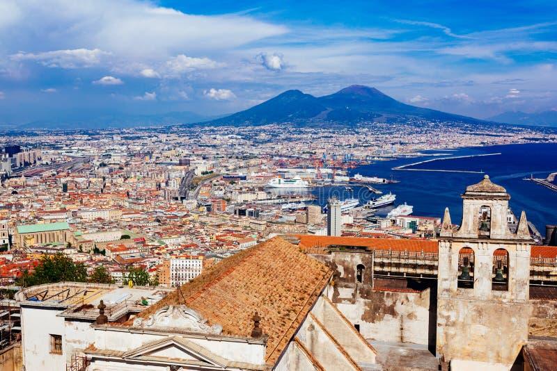 Naples from San Martino Certosa royalty free stock photo