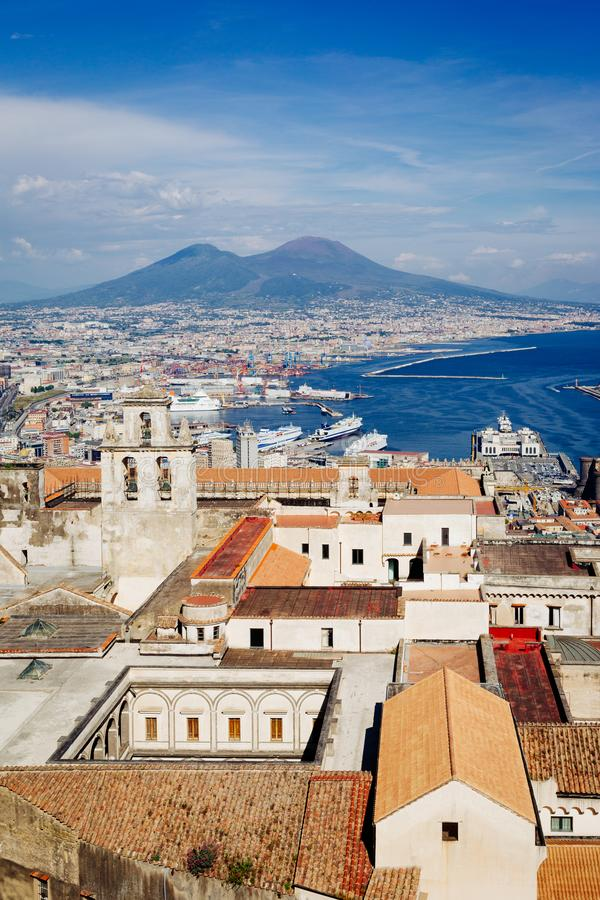 Naples, view from San Martino Certosa royalty free stock image