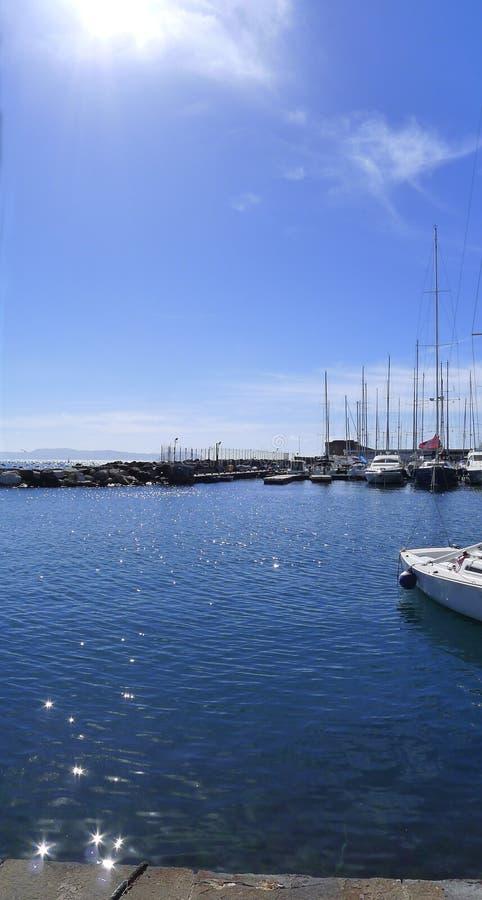 Naples Santa Lucia Pier royaltyfria bilder