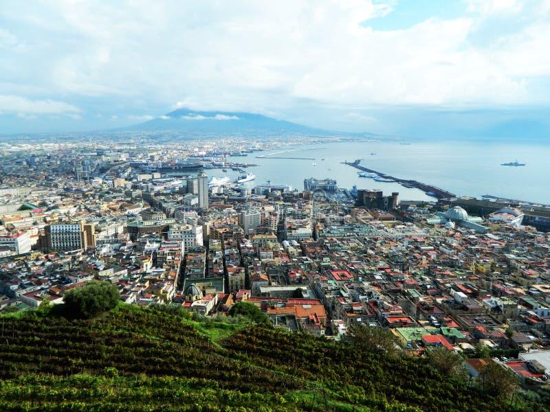 Naples sikt fotografering för bildbyråer