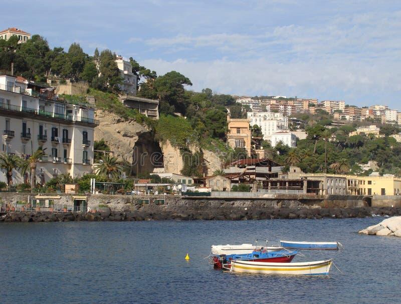 Naples sikt av Marechiaro arkivbild