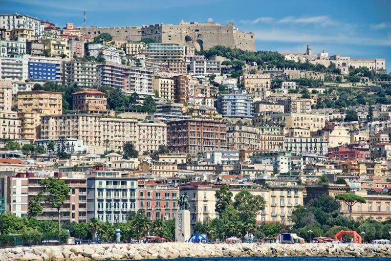 Naples skyline royalty free stock photography