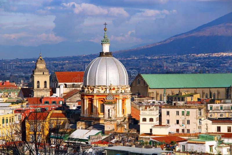 Naples stary miasteczko, Włochy zdjęcia stock