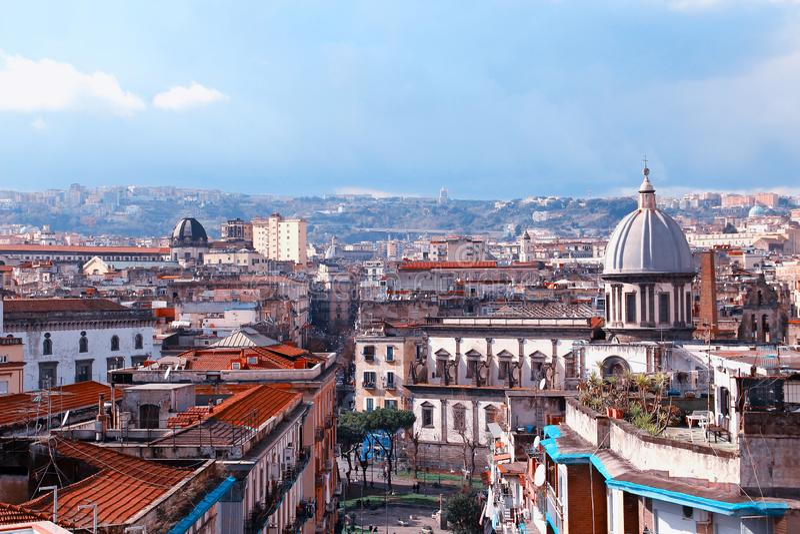 Naples stary miasteczko, W?ochy fotografia stock