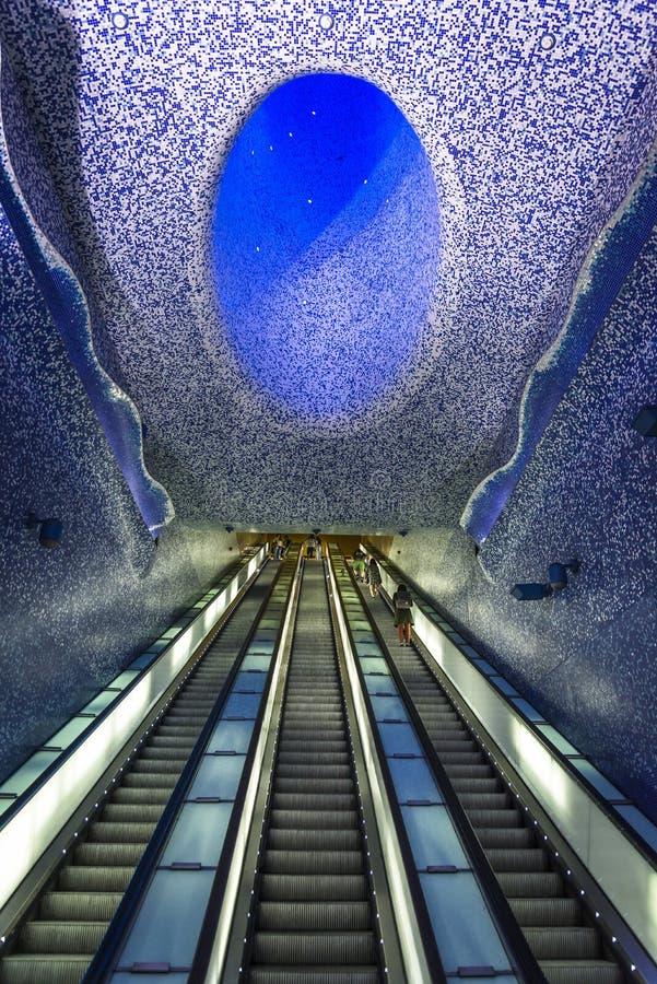 Naples tunnelbana, Naples, Italien arkivbild