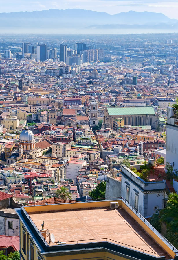 Naples view from the hills stock image