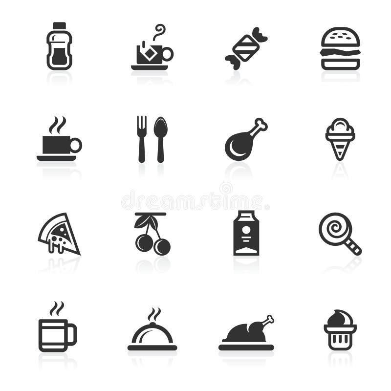 napojów jedzeń ikon minimo serie ilustracji
